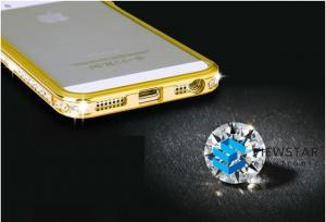 China Bumper Case For Iphone Cellphone Case With Diamond Bling Crystal Metal Case on sale