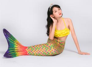 China Spandex Material Childrens Mermaid Tails , Realistic Mermaid Tails For Kids on sale