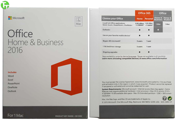 office 2016 home and business office 365