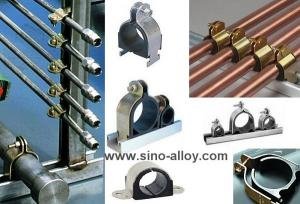 China Cushion clamps, stainless steel cushion clamps with rubber inside on sale