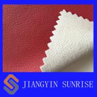 Eco - Friendly Red Car Seat Covers Leather / Auto Upholstery Leather