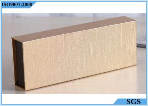 China Gold Clamshell Hard Gift Boxes UV Printing Gravure For Health Care Products on sale