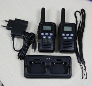 China Topsung New pair PMR walkie talkies with lion batteries and dock charger on sale