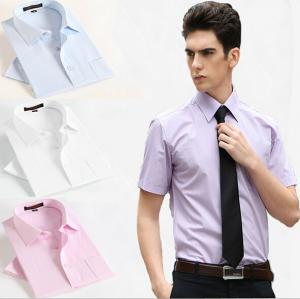 China hot sale new Men's shirt Fashion Casual Slim Fit Stylish cotton short Sleeve dress shirts Luxury on sale