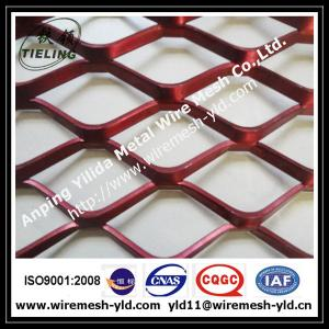 China powder coated aluminum facade,decorative aluminum expanded metal mesh on sale