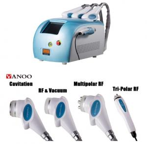 China Blue Portable Cavitation RF Body Slimming Machine 4 In 1 4 Handpiece Body Weight Loss Machine on sale