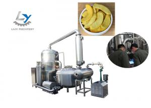 China Food Grade SS 304 Vacuum Fried Chips Machine Continuously Oil Filtration on sale