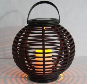 China Solar Outdoor Waterproof Rattan lantern  Pensile lamp on sale