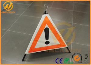 China Customized Reflective Warning Triangle Construction Folding Triangle Warning Sign on sale