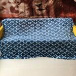 Queen Size / King Size Flannel Fleece Blanket Knitted High Density For Home Textile