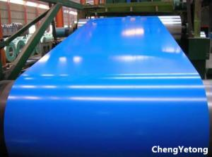 China 0.60MM Thickness Color Coated Galvanized Steel Coil Blue PE Coating For Partition Wall on sale