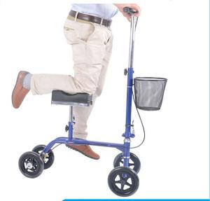 China FDA certification used foldable steel knee walker on sale