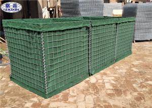 China Q195/Low Carbon Steel Wire Military Hesco Sand Filled Barriers Hole Size 3 * 3 on sale