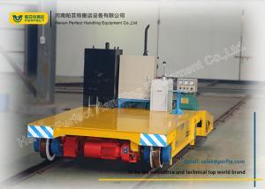 China Warehouse Transferring Flat Rail Guided Vehicle , Cargo Heavy Duty Cart Trolley on sale