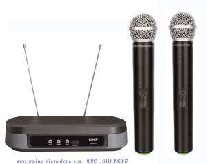 China LS-7210 UHF dual channel wireless microphone with  2MICS  / micrófon cheap price / SHURE PG88 on sale