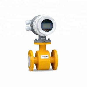 China Sewage water flange electromagnetic flow meter with PTFE liner on sale