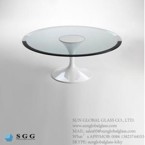 China Price custom design tempered glass table tops manufacturer on sale