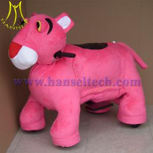 China Hansel latest electric cars made in china plush rocking animals amusement rides on sale