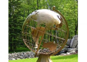 China Giant Antique Brass World Globe Statue Sculpture for Outdoor on sale