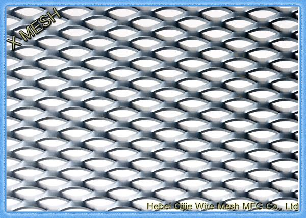 Silver Expanded Metal Mesh , Hot Galvanized Steel Welded Wire Mesh