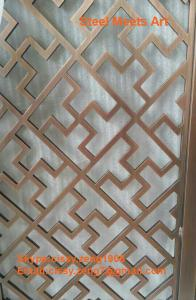 Quality stainless steel OEM products screens room dividers partitions for sale