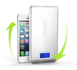 China Silver New Mobile Power Bank 20000mAh powerbank portable charger external Battery on sale