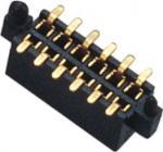 hembra dual del conector del jefe del Pin de la fila 180° SMT de 1.27m m con el diversos poste y metal