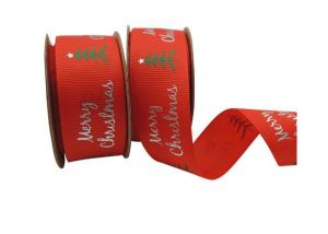 China 100% Polyester Gift Wrap Ribbon , Red Ribbon For Gift Wrapping on sale