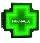 Green Color LED Pharmacy Cross Signs 110V FARMACIA Cross Customized