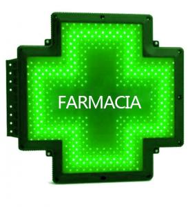 China P10 Blue Pharmacy Cross Sign Lighted Double Sides Super Brightness Italy on sale