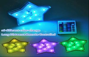 China Color Changing Battery Operated El Products Star Led Lights Remote Control on sale