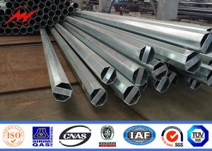 China Galvanized poles electrical power pole hot dip galvanized or painting on sale