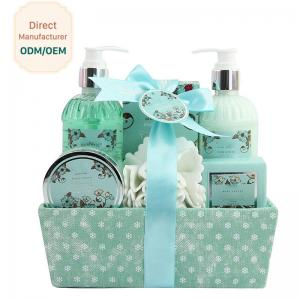 China Adult Body Care Bath Gift Set / Luxury Body Care Gift Sets Weaving Basket on sale