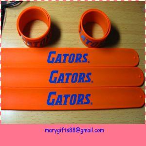 China make silicone rubber slap bracelet supplier on sale