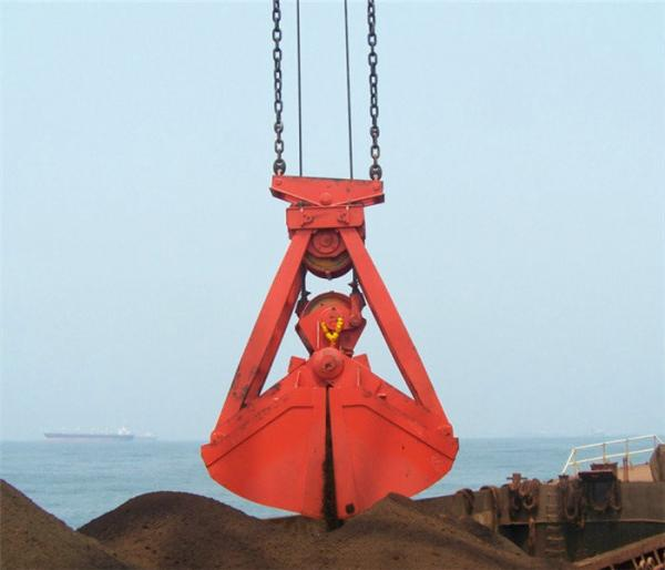 16T Mechanical Clamshell Grab Bucket 10m³ For Bulk Cargo