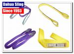 South American Polyester Flat Lifting Slings Eye And Eye Hoist Straps Double Ply Type