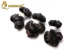 China Beauty Short Length Peruvian Fumi Hair Extensions Natural Black Hair Weave on sale