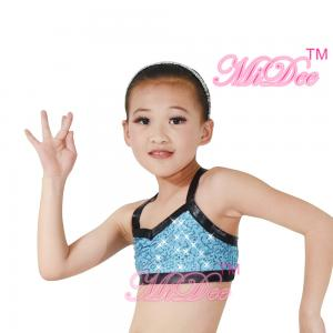 7557c7f04ff6 ... Quality Sequin Camisole Crop Top Hip Hop Dance Costumes With Black  Binding Custom Size for sale