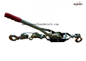 China Engineering Hand Cable Puller 2T Single Gear Three Hooks Easy Installation on sale