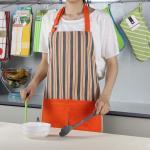 Bib Style Stripe Pattern Cotton Kitchen Apron 70x80cm , Personalised Kitchen Aprons