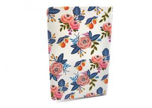 China Glossy Soft Cover Notebook / Planner Notebook With Beautiful Flowery Patterns on sale