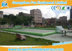 China Plato PVC Tarpaulin Green Inflatable Football Pitch , Inflatable Bubble Football Field on sale