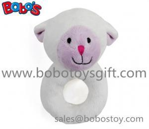 China 6 Plush Lamb Baby Rattle Toys Handbell Toys on sale