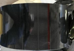 China 3004 /8011 black coated aluminium strip for olive caps on sale