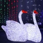 Christmas lighted swan