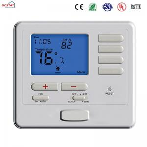 China White Color Heat Pump Non Programmable Thermostat Air Conditioner Heating Room Thermostat on sale