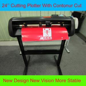 China HW630 Graphic Cutting Plotter With Contour Cut 24 Vinyl Sign Cutter Adhesive Label Cutter on sale