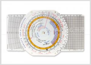 China Multi use Plastic Navigation Flight Computer E6B Plotter with Booklet for Pilot Student CRP-5 on sale