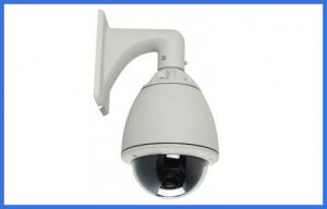 China PAL / NTSC audio analog PTZ Network Camera white color , ptz dome cameras on sale