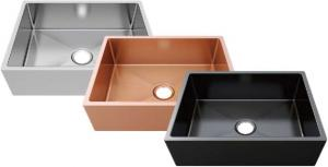 China Rectangle Bathroom Sink Brushed Surface Treatment With Single Hole / Single Stainless Steel Kitchen S on sale